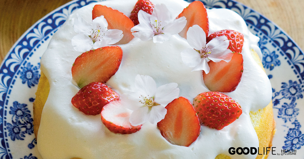 Strawberry Blossom Cake